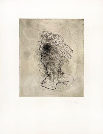 彫版 Braque - Grande tête