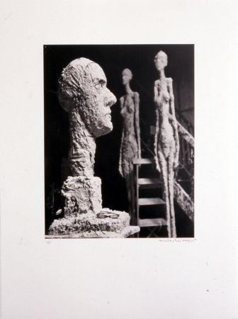 リトグラフ Scheidegger - Grande tête en plâtre