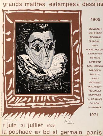 掲示 Picasso - Grands Maîtres Estampes Et Dessins 1905 - 1972 - Galerie La Pochade, 7 Juin - 31 Juillet,1972