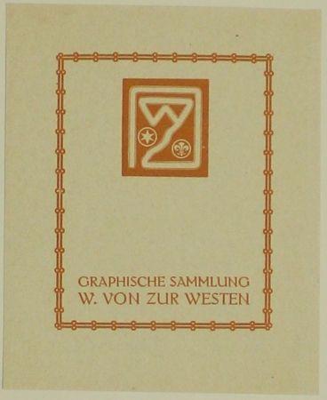 木版 Fölkersam (Von) - Graphische Sammlung W. von Zur Westen
