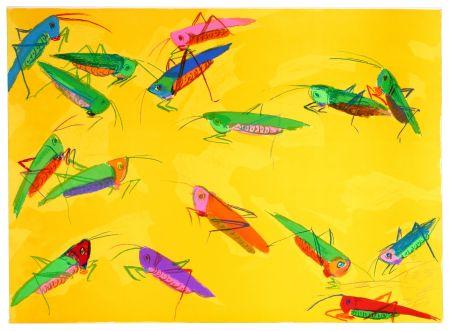 リトグラフ Ting - Grasshoppers