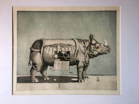 アクチアント Meckseper - Gravure Aquatinte. Friedrich Meckseper