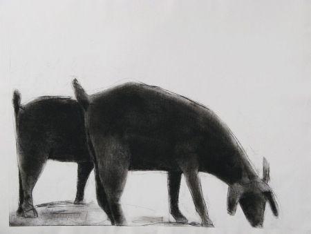 彫版 Nhlengethwa - Grazing II