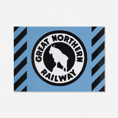 シルクスクリーン Cottingham - Great Northern Railway