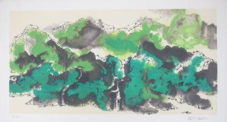 リトグラフ Po Chung - Green mountain