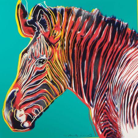 シルクスクリーン Warhol - Grevys Zebra (FS II.300)