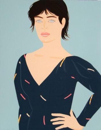 リトグラフ Katz - Grey Dress (Laura) Diane von Furstenberg Dress