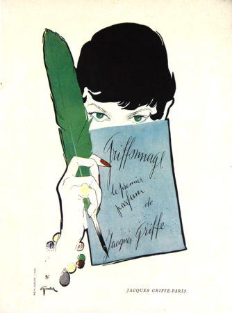 リトグラフ Gruau - Griffonage  Parfum De Jacques  Griffe