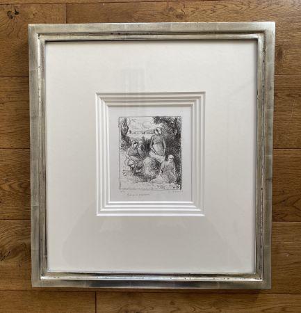 リトグラフ Pissarro - Group de paysans