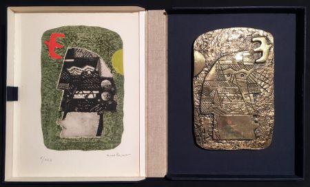 多数の Papart - GUERRIER. Un eau-forte signée et un bronze (1977).