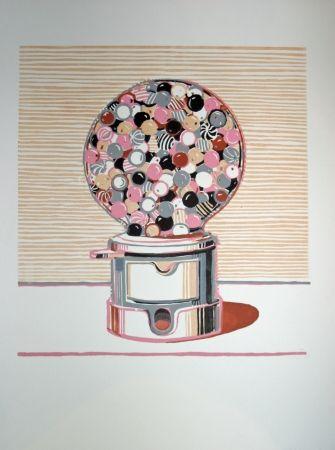 リノリウム彫版 Thiebaud - Gumball Machine