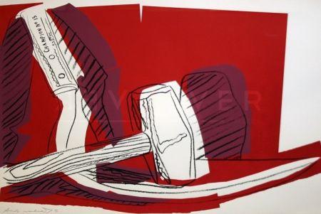 シルクスクリーン Warhol - Hammer And Sickle (Fs Ii.162)