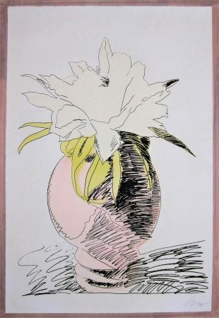シルクスクリーン Warhol - Hand-Colored Flower