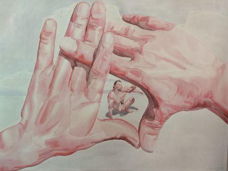リトグラフ Minjun - Hands
