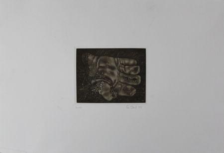 メゾチント彫法 Ebert - Handschuh / Glove