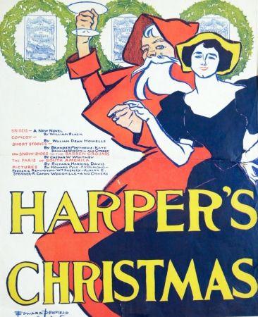 リトグラフ Penfield - Harpers Christmas 1895