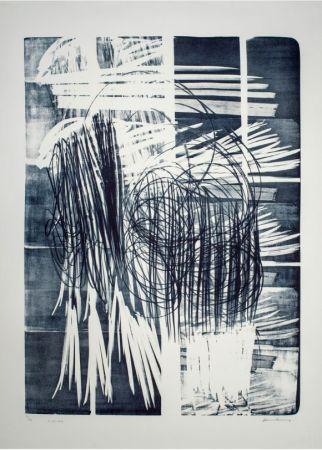 技術的なありません Hartung - Hartung Hans (1904-1989)  L-16B-1974  Lithographie en noir