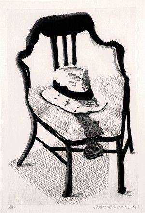 エッチングと アクチアント Hockney - Hat On Chair, From Geldzahler Portfolio