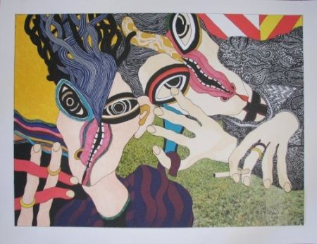 リトグラフ Tola - Hay mujer, un animal callado que tú aún no conoces