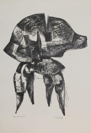 リトグラフ Hadzi - Helmet Series