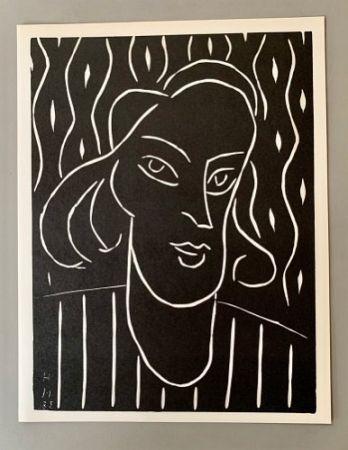 リノリウム彫版 Matisse - Henri Matisse -'Linocut' 'Teeny' 1938