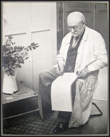 写真 Matisse - Henri Matisse Sketching