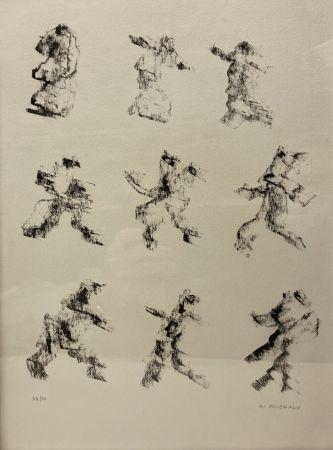 リトグラフ Michaux - Henri Michaux (1899-1984). Lithographie signée et numérotée.