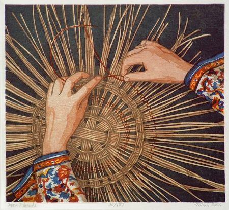 木版 Schwaberow - Her Hands