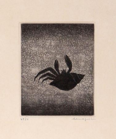 メゾチント彫法 Hamaguchi - Hermit Crab