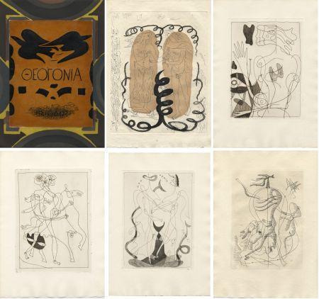 挿絵入り本 Braque - Hesiode : THÉOGONIE.Eaux-fortes de Georges Braque. Maeght 1955.