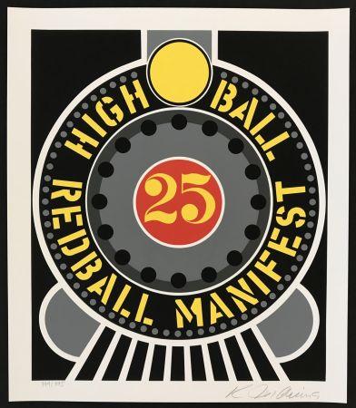シルクスクリーン Indiana - Highball on Redball Manifest