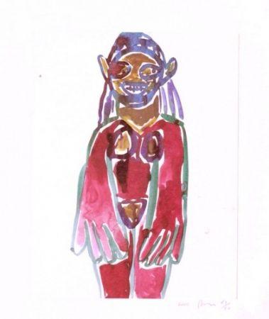 リトグラフ Prince - Hippie Drawing