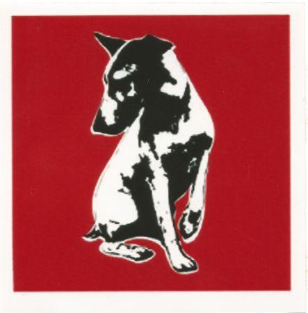 シルクスクリーン Blek Le Rat - His Master's Voiceless (Red)