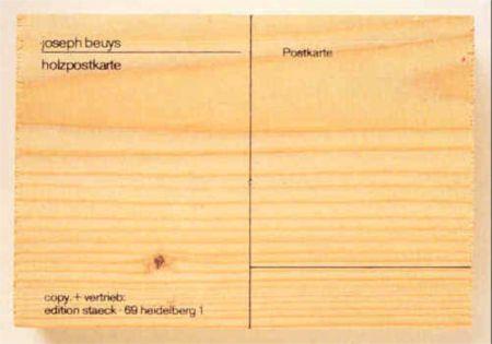 シルクスクリーン Beuys - Holzpostkarte