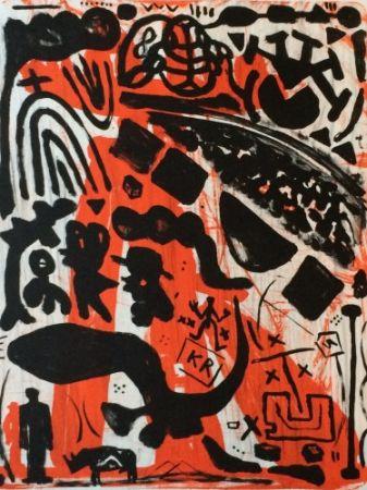 リトグラフ Penck - Homage to Beuys