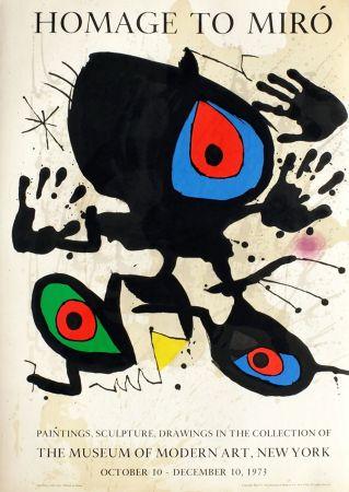 技術的なありません Miró - HOMAGE TO MIRO. Expo au MoMA de New York. 1973. Affiche originale.