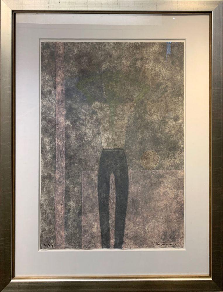 彫版 Tamayo - Hombre con brazos sobre la cabeza