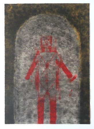 リトグラフ Tamayo - Hombre en Rojo