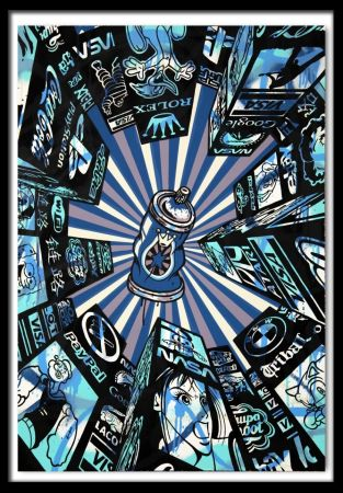 シルクスクリーン Speedy Graphito - Home Street Home (Blue)