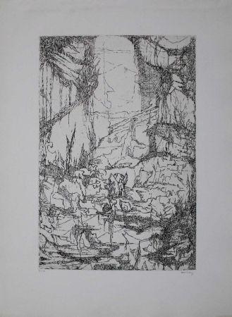 彫版 Eliasberg - Hommage à Dürer (Phantasielandschaft für Dürer)