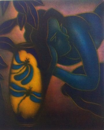 メゾチント彫法 Schkolnyk -  Hommage à Gauguin