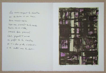 リトグラフ Vieira Da Silva - Hommage à Jean Cassou, 1975
