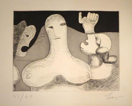 彫版 Baj - Hommage à Le Corbusier