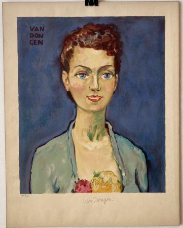 リトグラフ Van Dongen - Hommage à Marie-Claire- Circa 1950