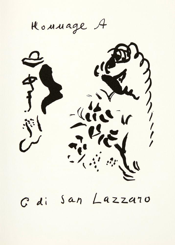 リトグラフ Chagall - Hommage à San Lazzaro