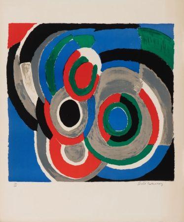リトグラフ Delaunay - Hommage à Stravinsky