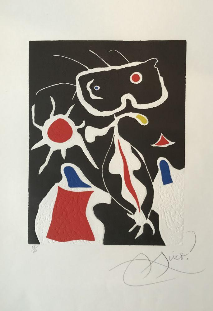 リノリウム彫版 Miró - Hommage a San Lazzaro