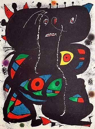 リトグラフ Miró - Hommage Aux Prix Nobel