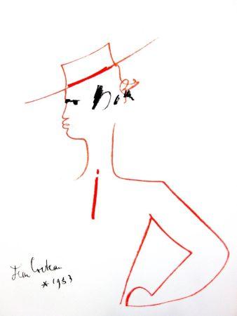 リトグラフ Cocteau - Homme au Chapeau