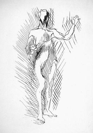 エッチング Villon - Homme debout